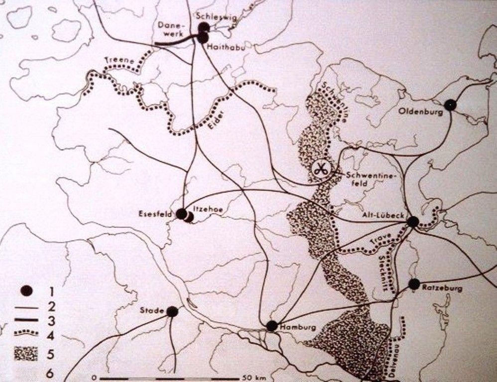 Verlauf des Limes Saxoniae