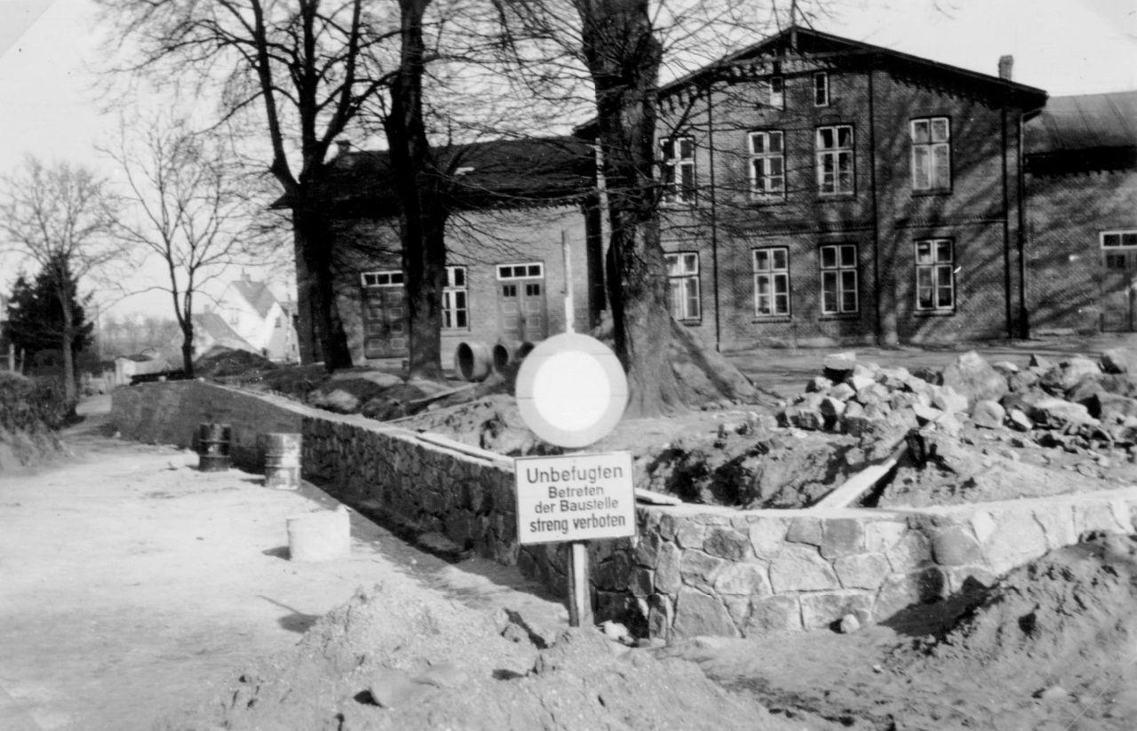 Aufbau Stützmauer