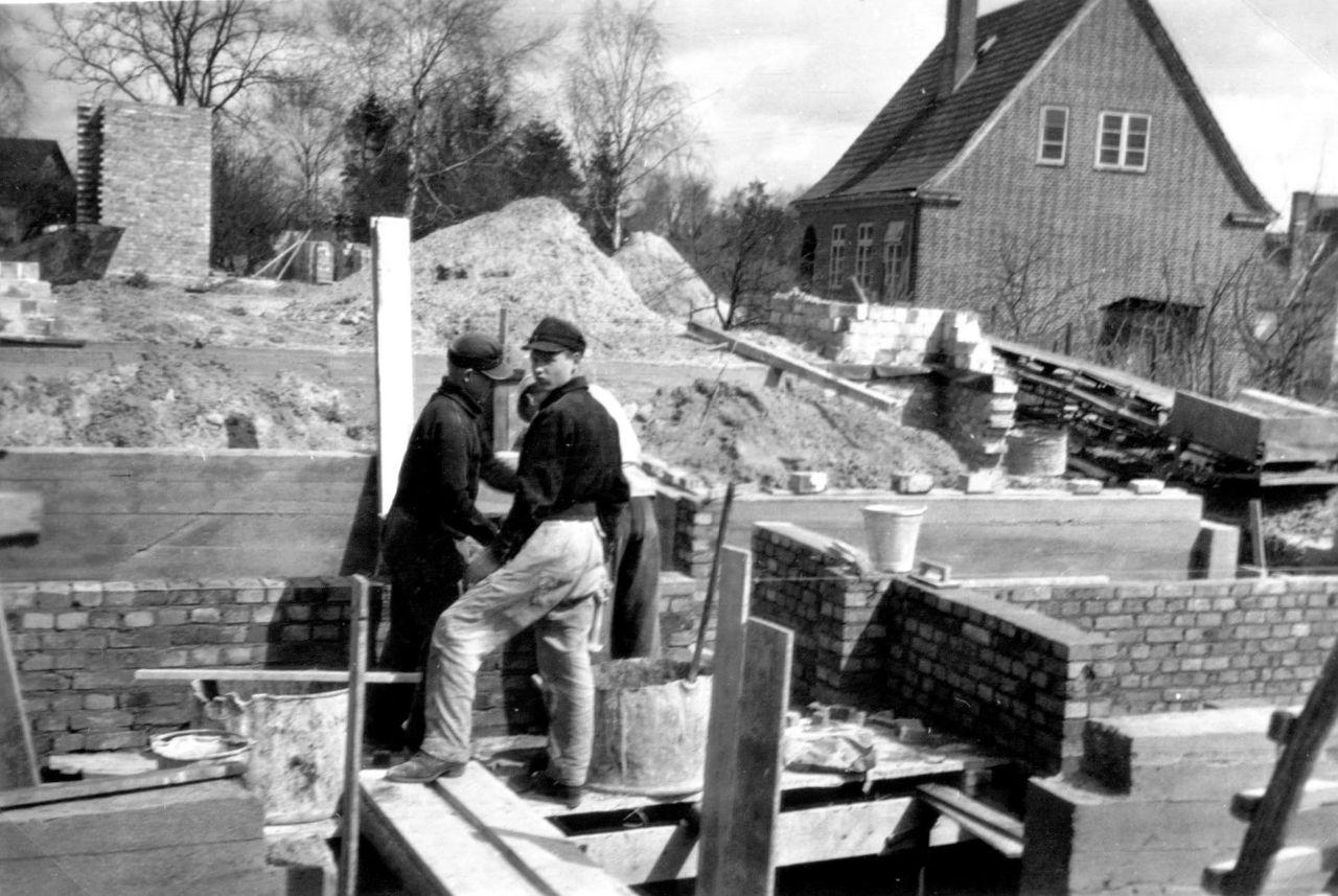 Bau der Außenmauern