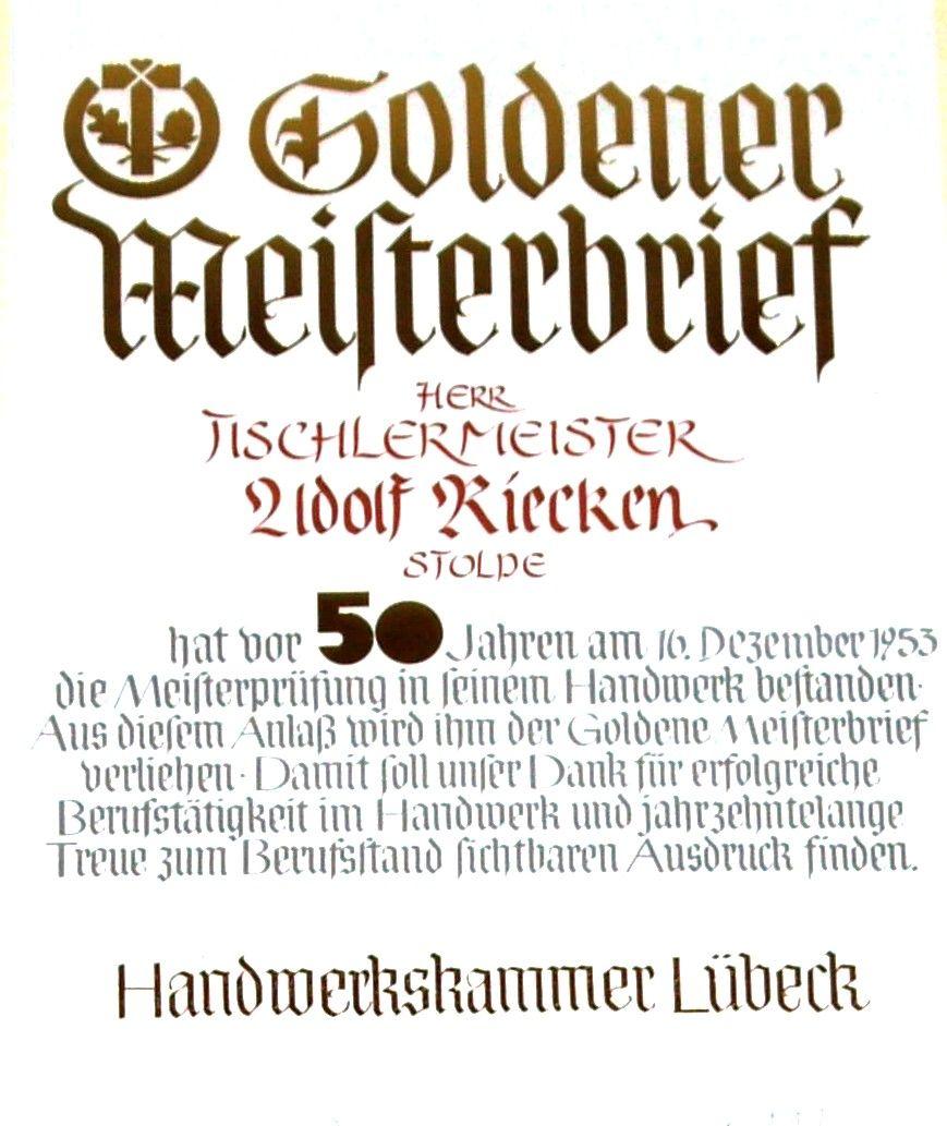 Goldener Meisterbrief 2003