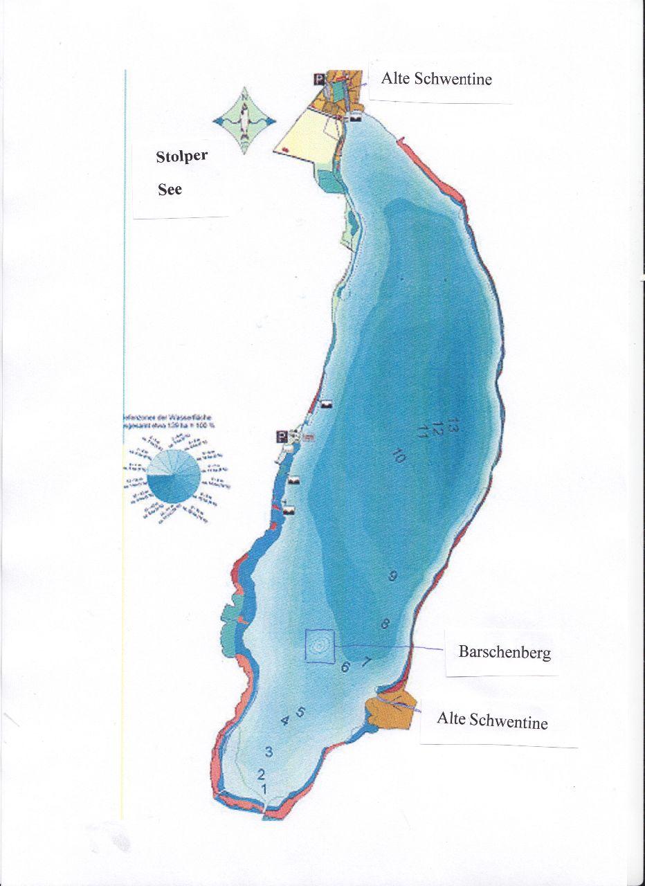 Stolper See - Lage der Burg
