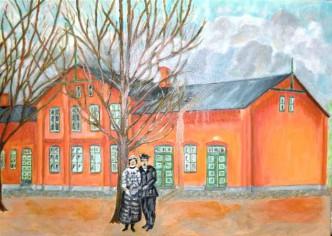 Ölbild Schule Stolpe