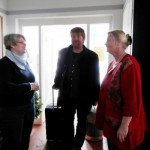 Bei der Ankunft mit den beiden Vorsitzenden Marion Gurlit (re) und Andrea Loose (li)