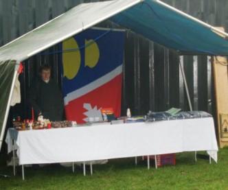 Der Stand der Gemeinde Stolpe mit Anke Burkandt