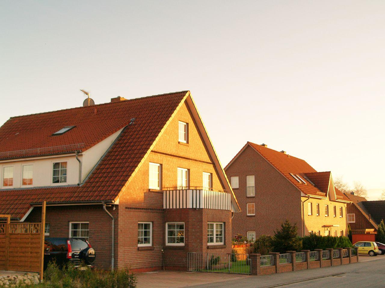 """Die neuen Häuser nach dem Brand der Gaststätte """"Zum Pfeifenkopf"""""""