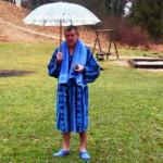 Jürgen mit Regenschirm