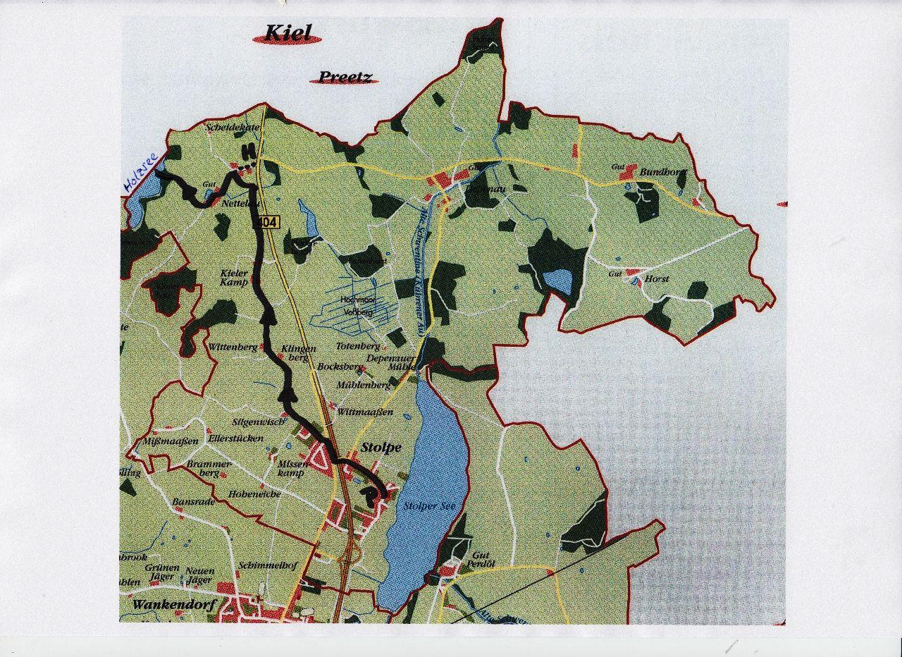 Karte zum Holzsee