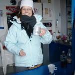 Kioskpächterin Marion macht das Treiben Spaß