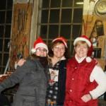 Melanie, Marion und Sylvia - die drei in der Schmiede
