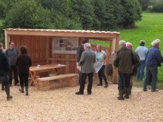 Neues Besucherinformationssystem am Stolper Moor