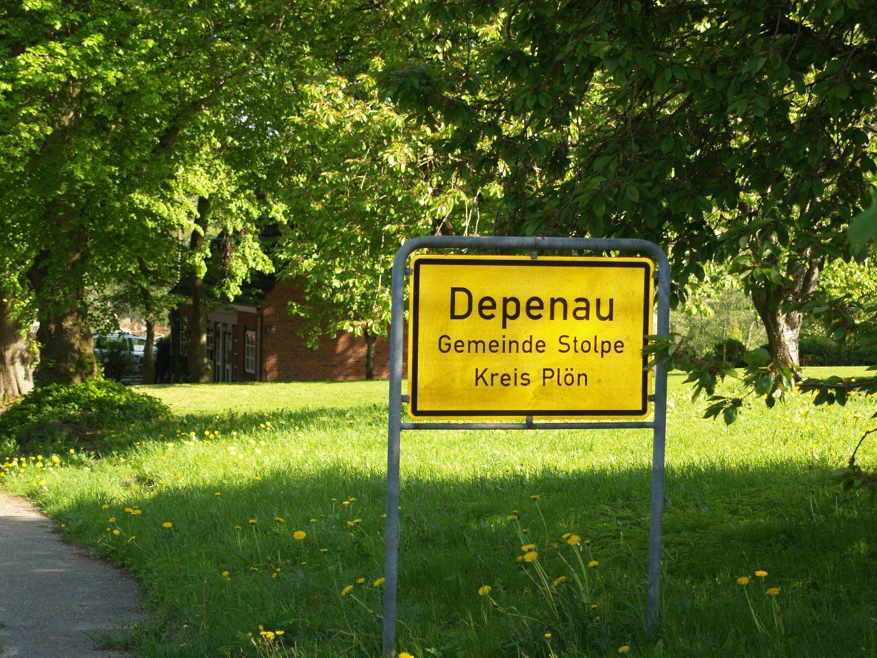 Ortsschild Depenau