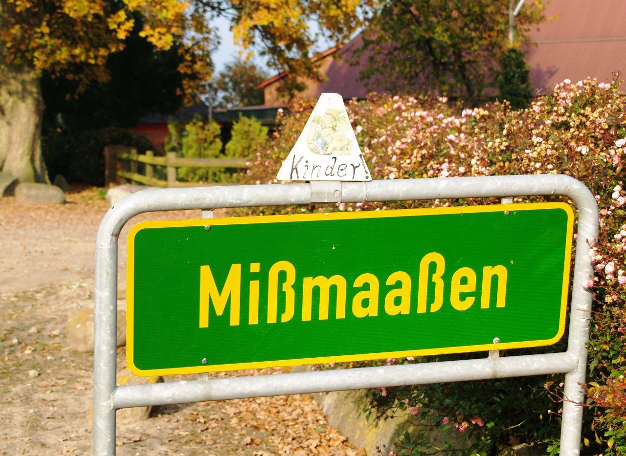 Ortsteilschild Mißmaaßen