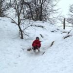 Rodelfahrt im Stolper Eiskanal