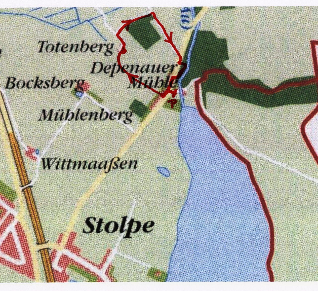 Spaziergang rund um den Totenberg - Karte