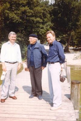 Von links: Gert, Adolph Meyer-Gauting und Uwe-Jens Brauer