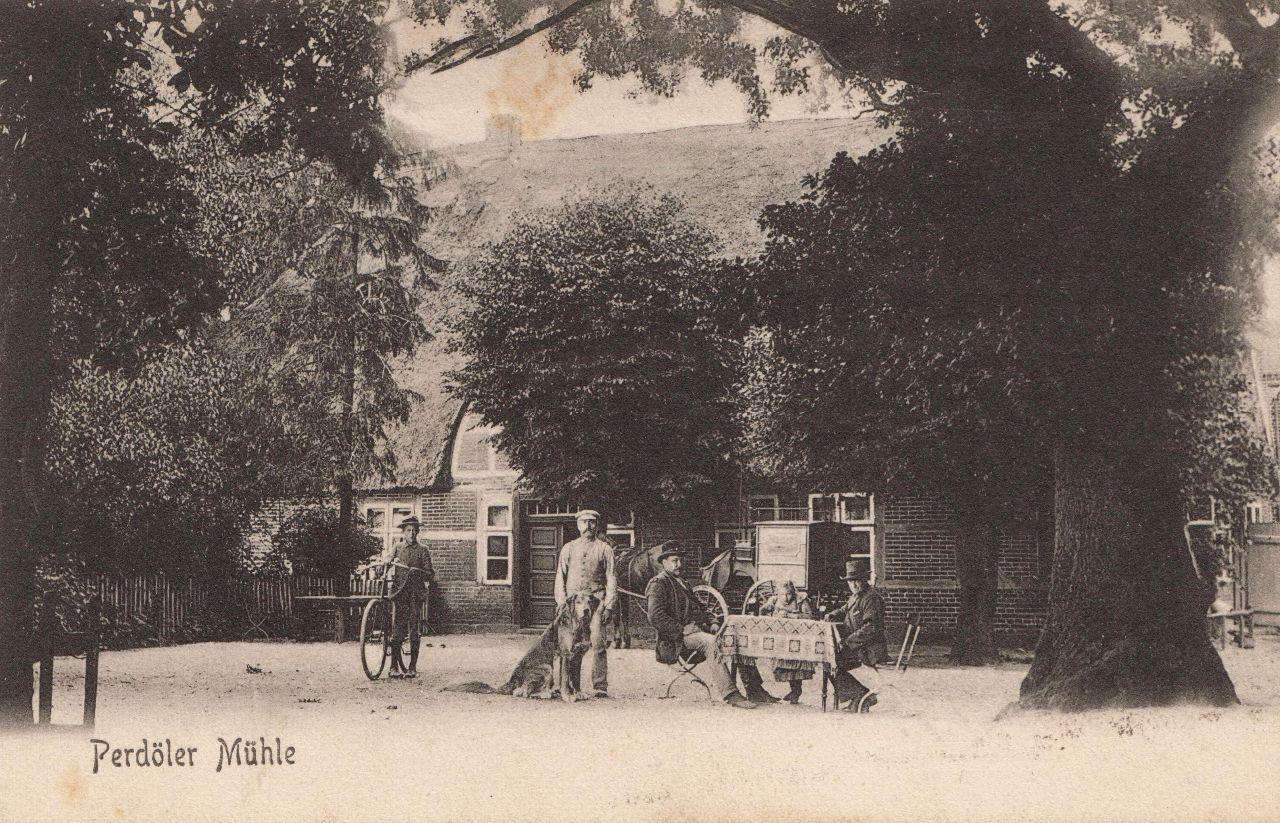 AK Perdoeler Mühle 1913