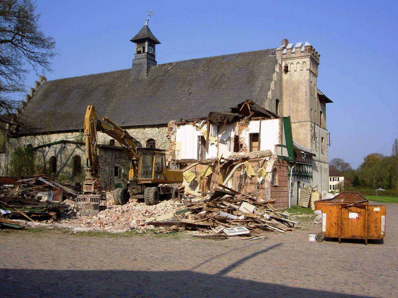 Abriss Torhaus 2006