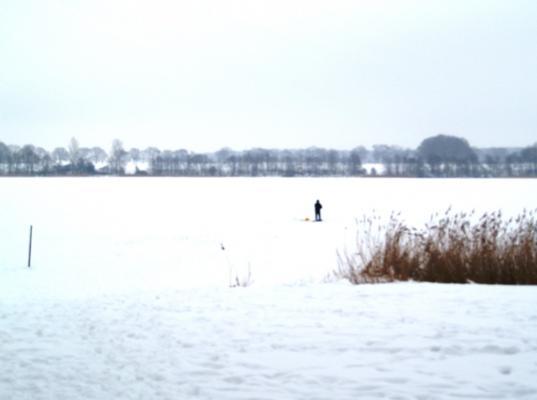 Eisangler auf dem Stolper See