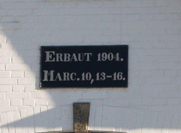 Bibelzitat über der Haustür von 1904