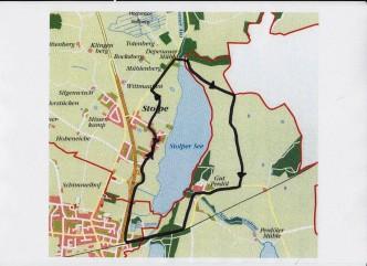 Karte Wanderung um Stolper See