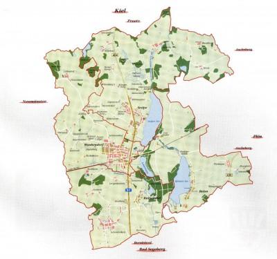Karte Amt Wankendorf
