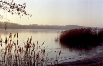 Morgensonne über dem vereisten See