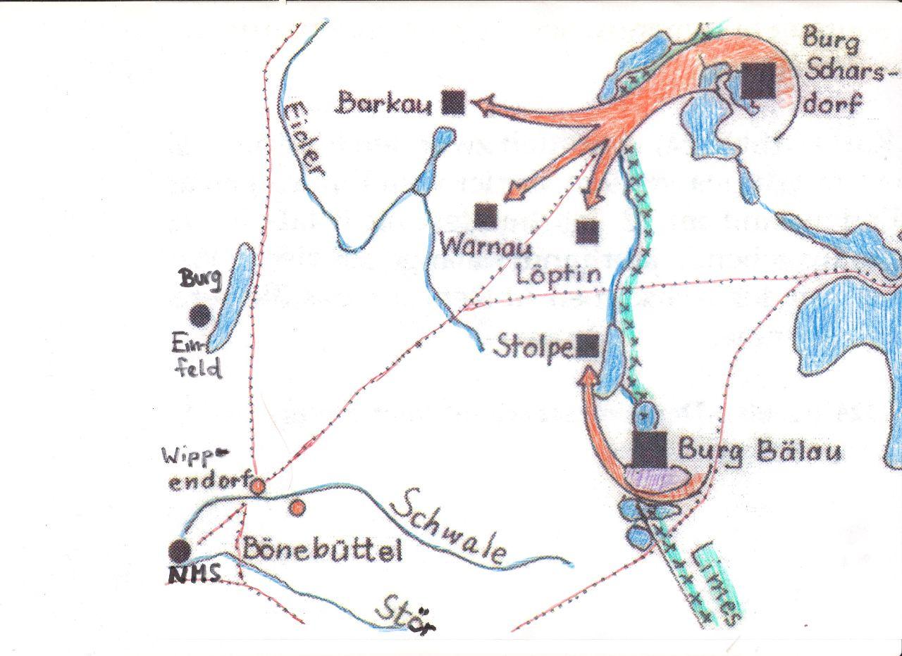 Slawische Siedlungsvorstöße