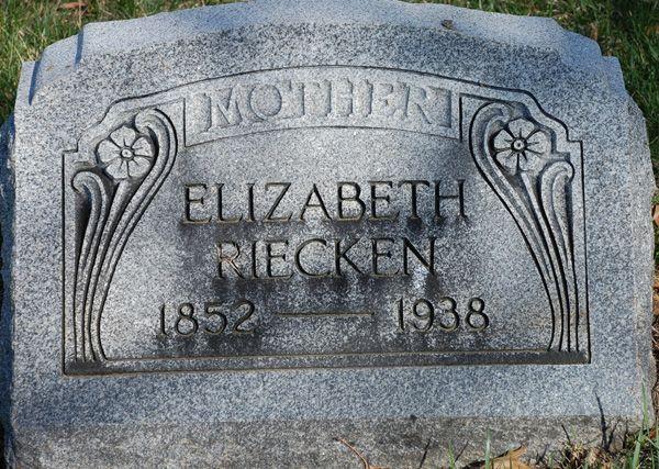 Grabstein Elizabeth Riecken