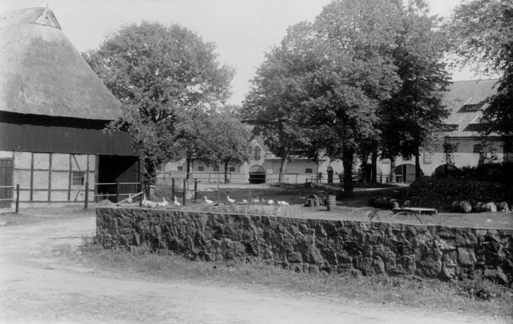 Alter Pferdestall mit Remise hinten