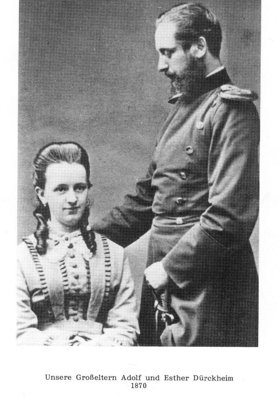Esther und Adolf Dürckheim 1870