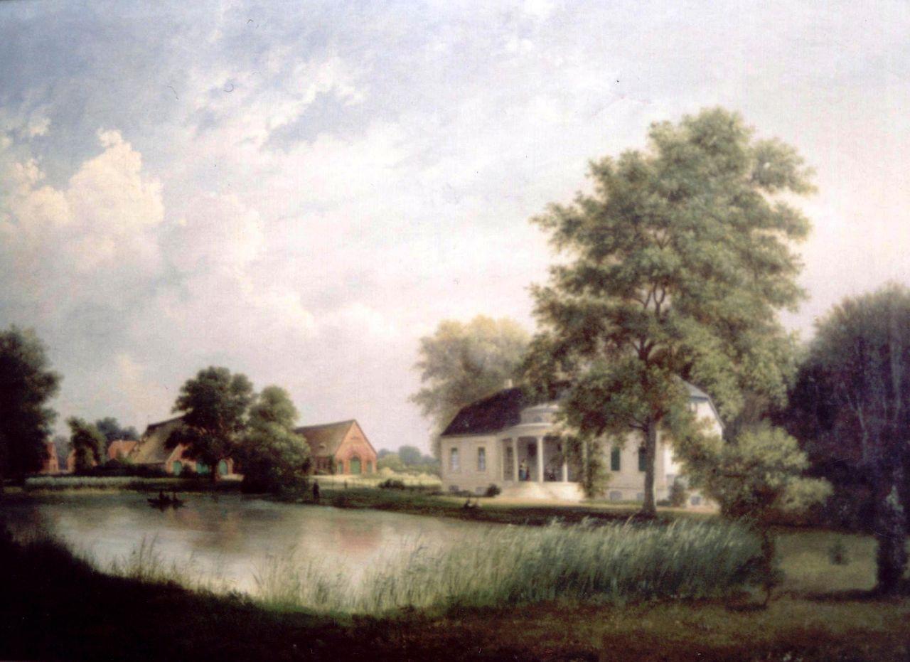 Gut Bundhorst - Ölgemälde von 1870 -1