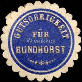 Gutsobrigkeit fuer Bundhorst