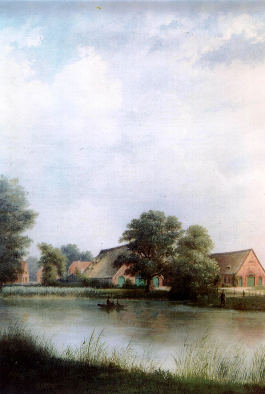 Neu aufgebaute Wirtschaftsgebäude nach 1832