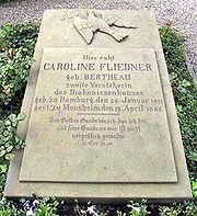 Grabplatte Caroline Fliedner
