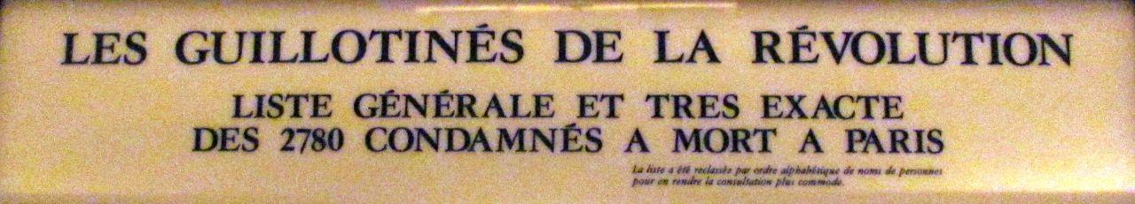 Die Guillotinierten der französischen Revolution