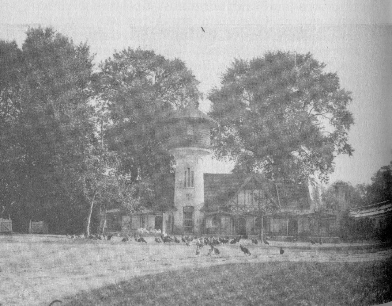 Taubenhaus mit Geflügelfarm