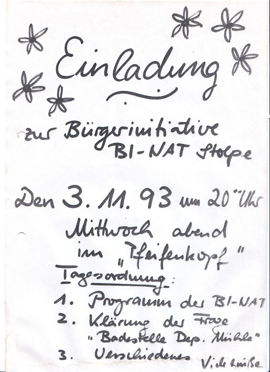Einladung 3.11.93