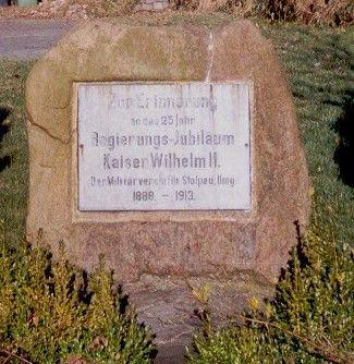 Gedenkstein für Kaiser Wilhelm II