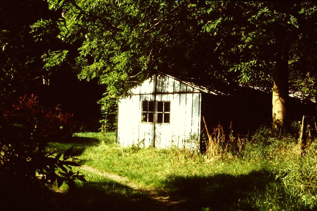 Die alte Blechhütte des Fischers