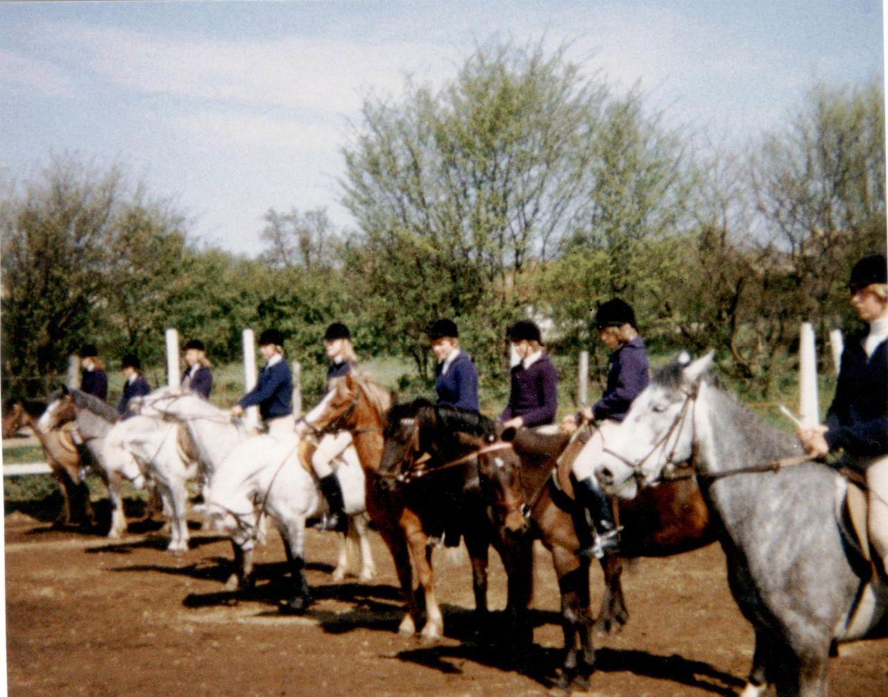 Erster Auftritt der Reiter 1978