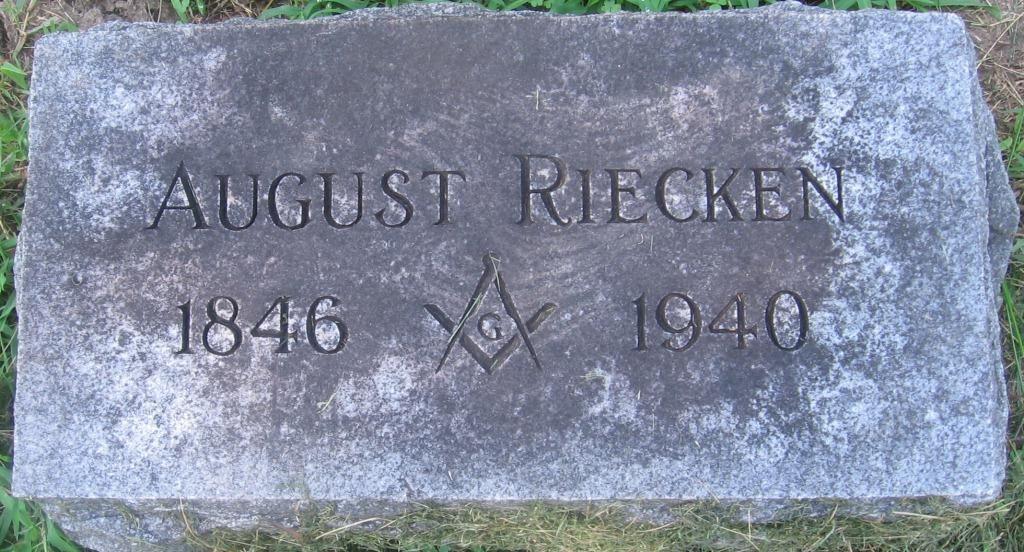 Grabstein August Riecken