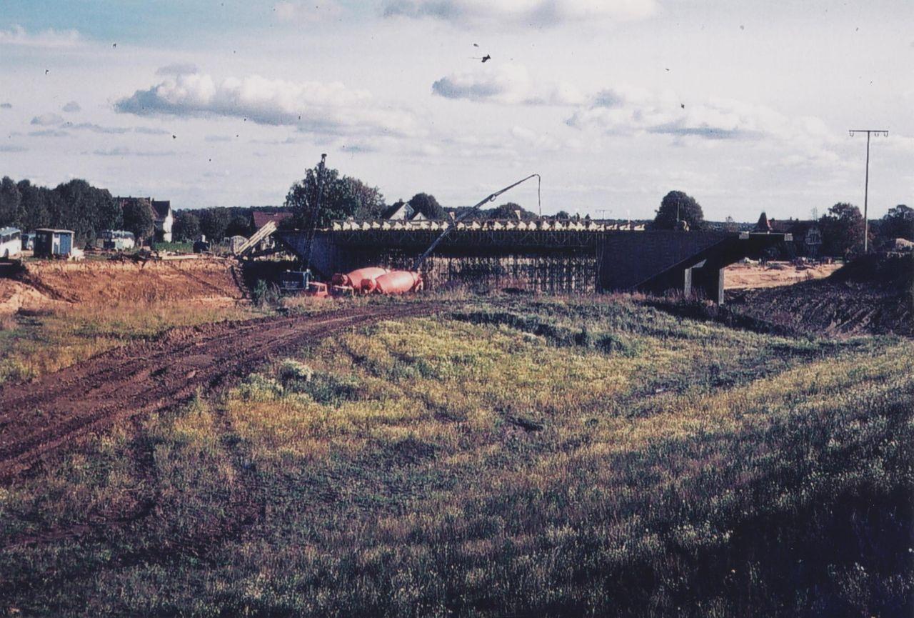 Bau der BAB-Brücke