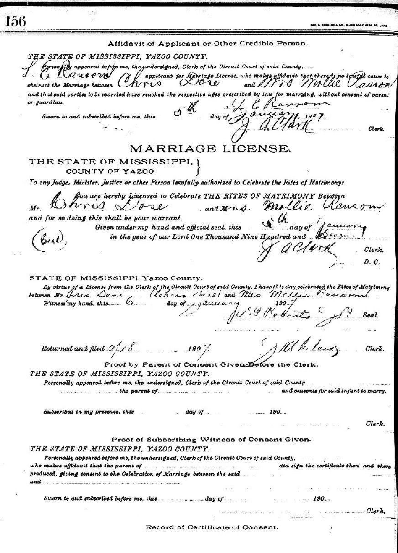 ChrisDoseMollieRansom Heirat