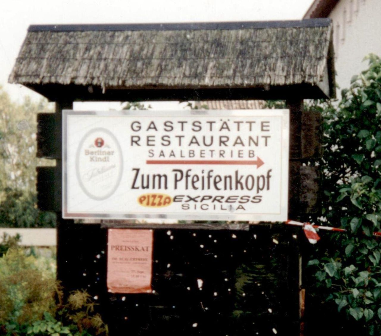 Schild des Pfeifenkopf