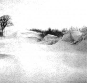 Schneeverwehungen am Timmerbarg