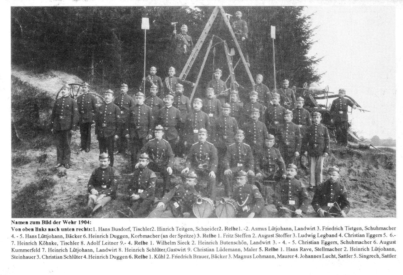 Feuerwehr Stolpe 1904