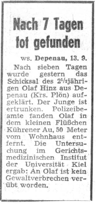 Olaf Hinz ertrunken