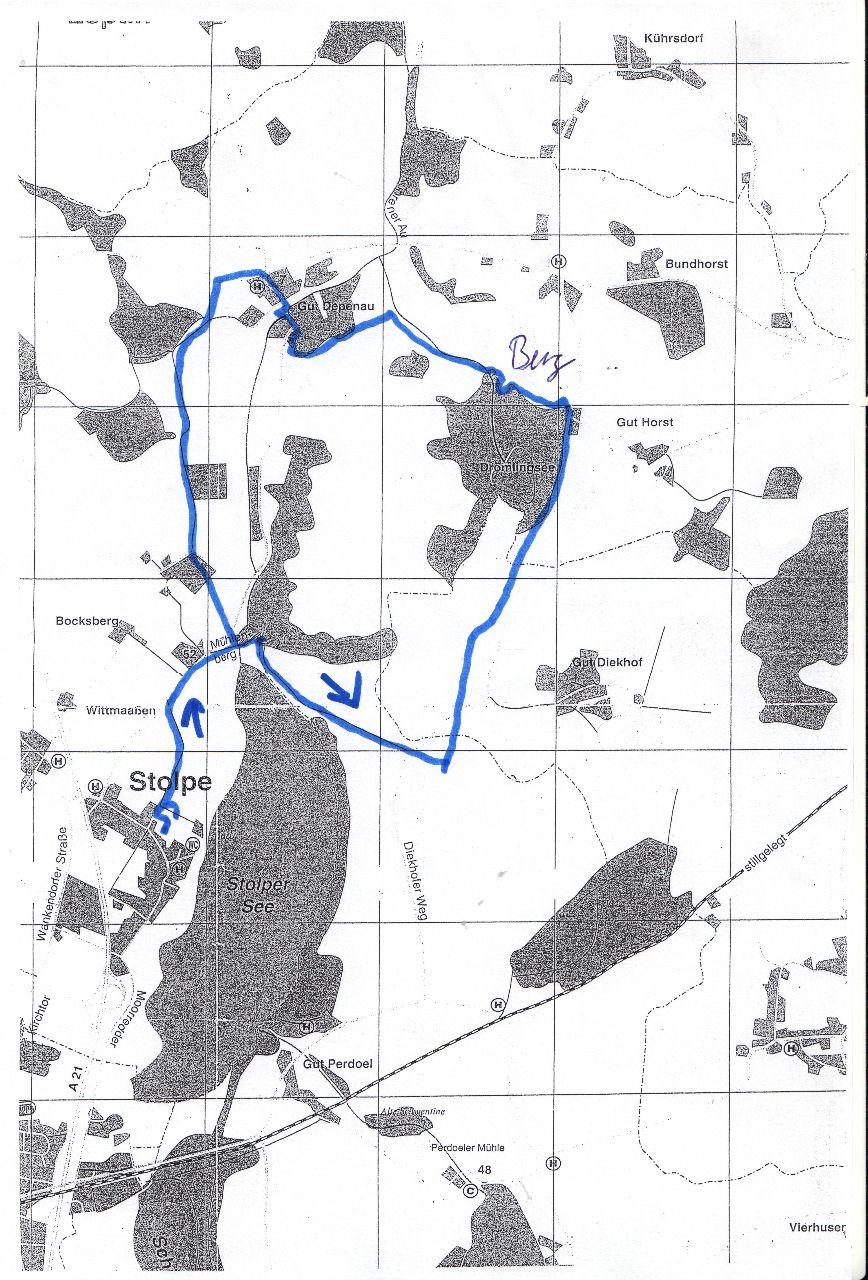 Plan der Ausfahrt