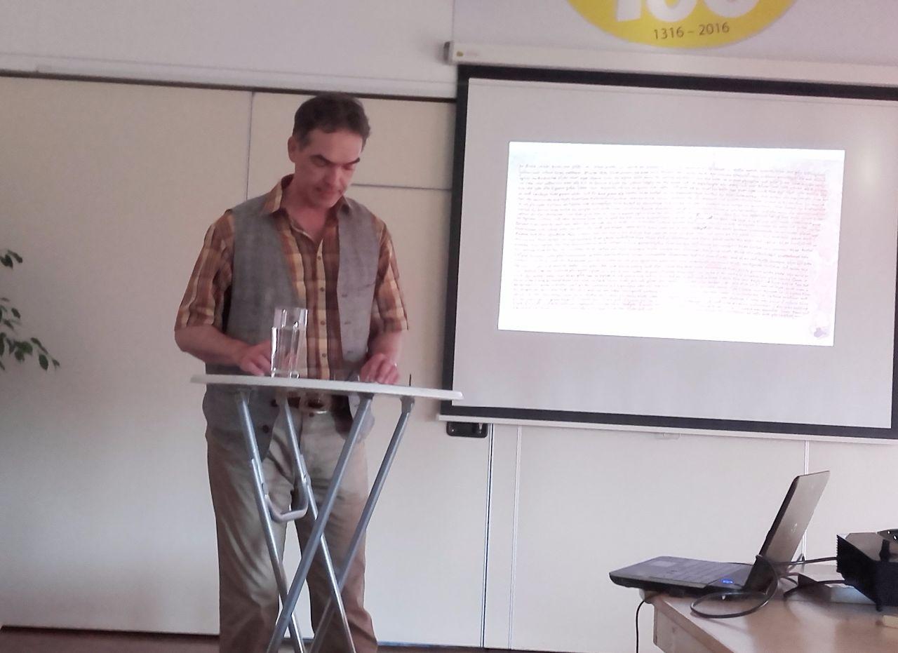 Volker Griese  im Vortrag