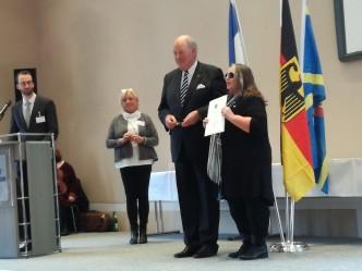 Verleihung durch Innenminister Grote